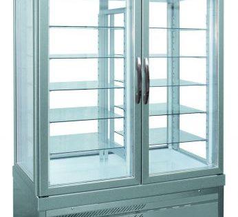 Gebaksvitrine - Showvit 7400 P ALUMINIUM - Tekna - (4 zijden glas)